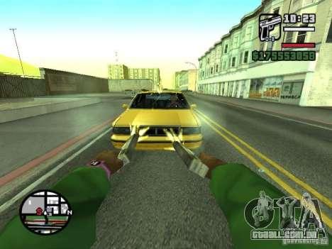 Primeira pessoa (primeira pessoa mod) para GTA San Andreas décimo tela