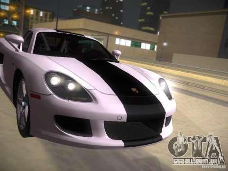 Porsche Carrera GT para GTA San Andreas vista superior