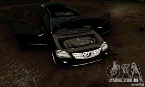 Mercedes-Benz ML500 para GTA San Andreas vista interior