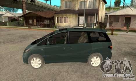Toyota Estima para GTA San Andreas esquerda vista