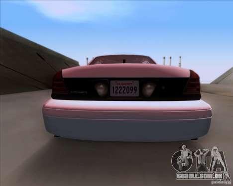 Ford Crown Victoria 2009 Detective para GTA San Andreas vista interior