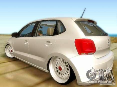 Volkswagen Polo 6R TSI Edit para GTA San Andreas esquerda vista