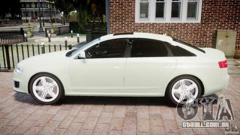 Audi RS6 2010 para GTA 4 esquerda vista