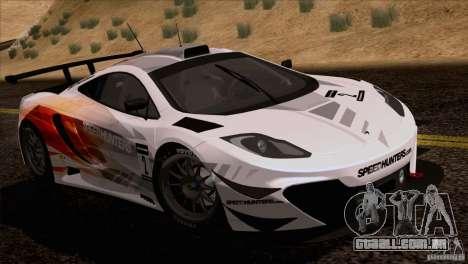 McLaren MP4-12C Speedhunters Edition para GTA San Andreas traseira esquerda vista