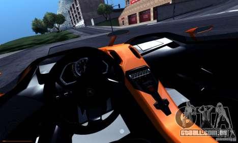 Lamborghini Aventador J para GTA San Andreas vista superior