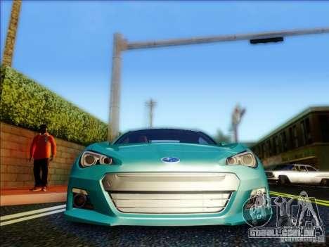 Subaru BRZ S 2012 para GTA San Andreas vista interior