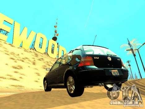 Volkswagen Golf 4 GTI para GTA San Andreas vista traseira