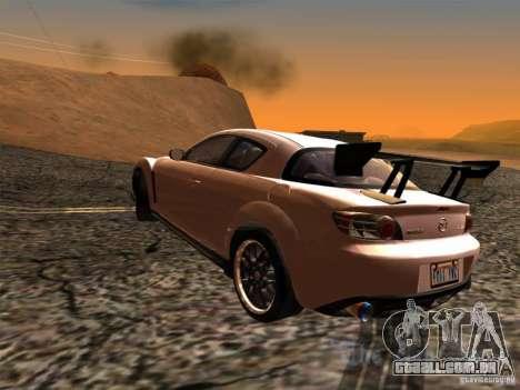 Mazda RX-8 Varis Custom para GTA San Andreas esquerda vista