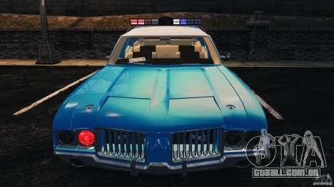 Oldsmobile Vista Cruiser 1972 Police v1.0 [ELS] para GTA 4 rodas