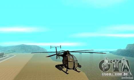 AH-6C Little Bird para GTA San Andreas vista traseira