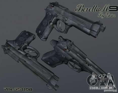 Beretta M9 para GTA San Andreas segunda tela