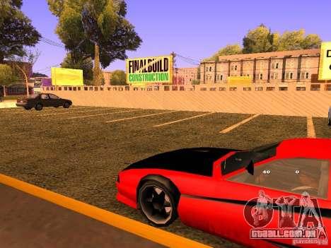 New Cheetah para GTA San Andreas vista traseira