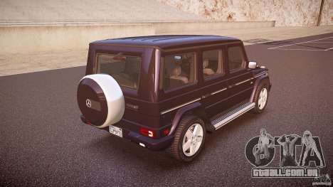 Mercedes Benz G500 (W463) 2008 para GTA 4 vista superior