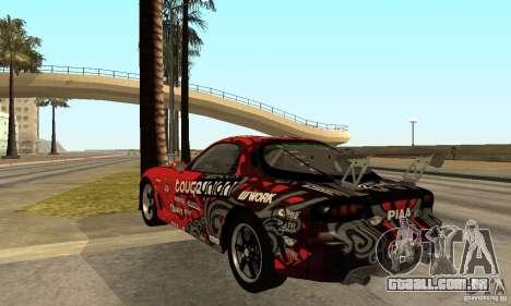 Mazda RX-7 FD3S para GTA San Andreas traseira esquerda vista
