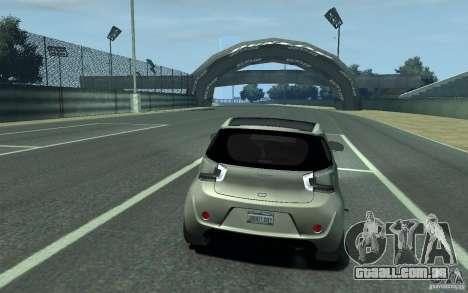 Aston Martin Cygnet 2011 para GTA 4 vista direita