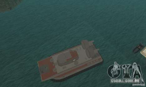 Hovercraft para GTA San Andreas vista interior