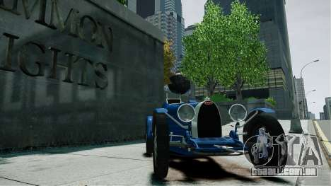 Bugatti Type 35C para GTA 4 vista direita