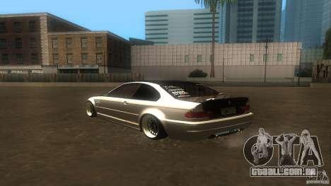 BMW E46 M3 Coupe 2004M para GTA San Andreas vista direita