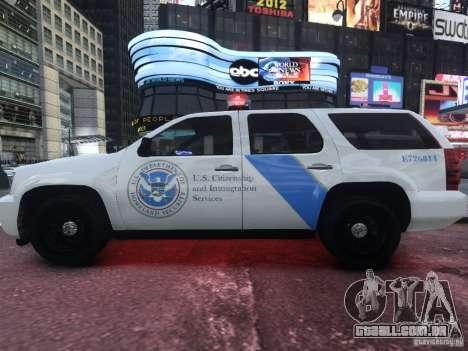 Chevrolet Tahoe Homeland Security para GTA 4 esquerda vista