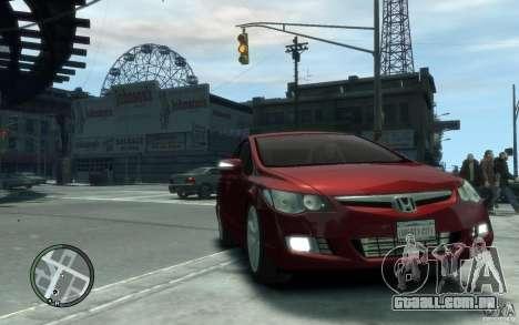 Honda Civic 2006 para GTA 4 vista de volta
