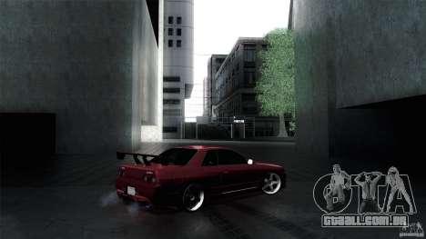 Nissan Skyline GT-R32 para GTA San Andreas vista traseira