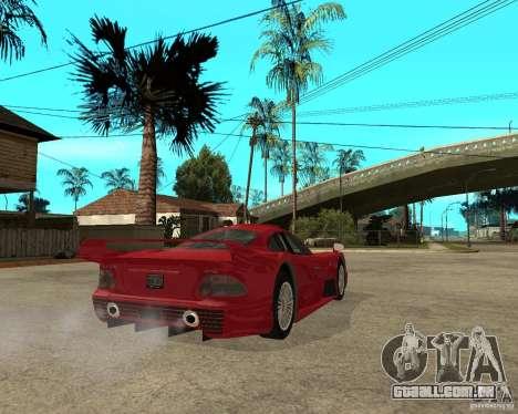 Mercedes-Benz CLK GTR road version para GTA San Andreas traseira esquerda vista