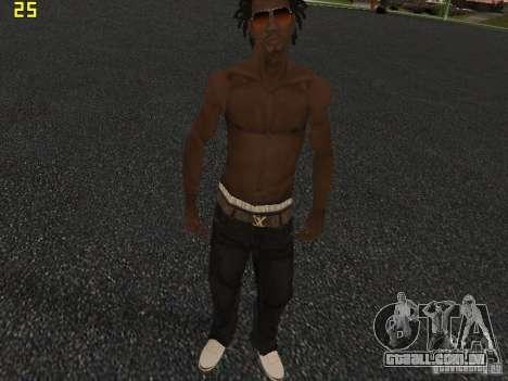 Afro-American Boy para GTA San Andreas por diante tela