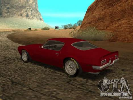 Pontiac Firebird 1970 para GTA San Andreas esquerda vista