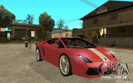 Lamborghini Gallardo LP550 Valentino Balboni para GTA San Andreas vista traseira