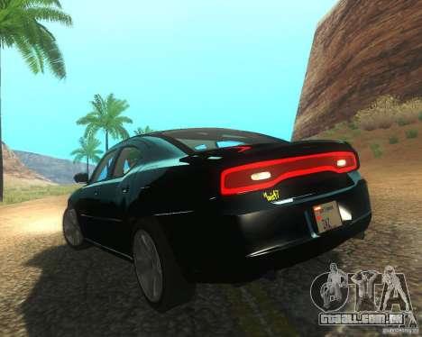 Dodge Charger 2011 para GTA San Andreas vista direita