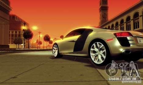 Audi R8 5.2 FSI Quattro para GTA San Andreas esquerda vista