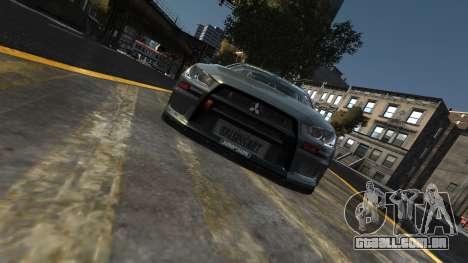 Mitsubishi Lancer Evolution para GTA 4 vista direita