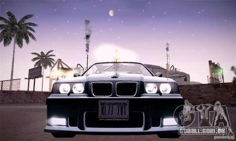 BMW E36 M3 Coupe - Stock para GTA San Andreas vista traseira