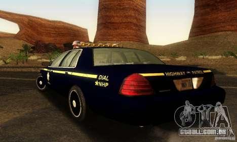 Ford Crown Victoria Nevada Police para GTA San Andreas esquerda vista