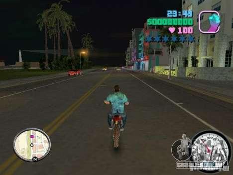 Velocímetro para GTA Vice City por diante tela