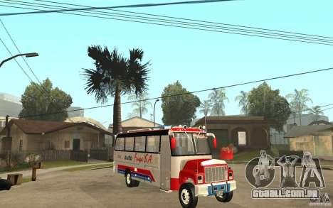 Kodiak B70 - Autofusa Colombia para GTA San Andreas vista traseira