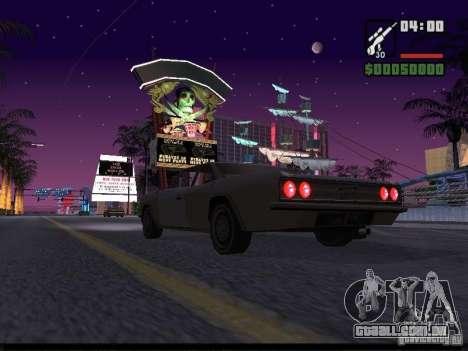 Céu estrelado v 2.0 (para SA: MP) para GTA San Andreas por diante tela