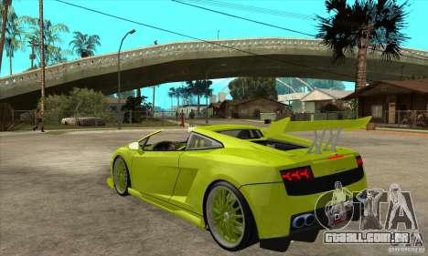 Lamborghini Gallardo LP560-4 Hamann para GTA San Andreas traseira esquerda vista