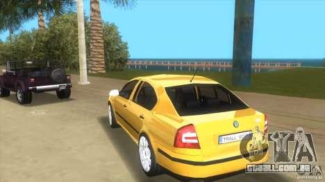 Skoda Octavia 2005 para GTA Vice City vista traseira esquerda