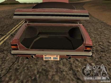 Ford Cortina MK 3 2000E para GTA San Andreas vista direita