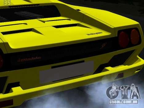 Lamborghini Diablo SV para vista lateral GTA San Andreas
