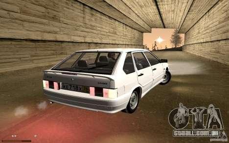 ВАЗ 2114 qualidade para GTA San Andreas vista interior