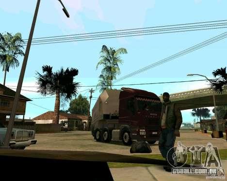 Iveco Stralis para GTA San Andreas vista traseira