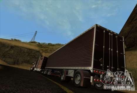 Freightliner Classic XL Custom para GTA San Andreas vista traseira