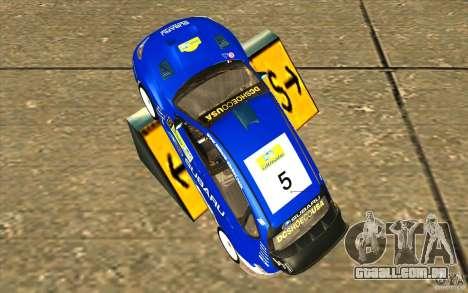 Novo vinil para Subaru Impreza WRX STi para GTA San Andreas vista direita