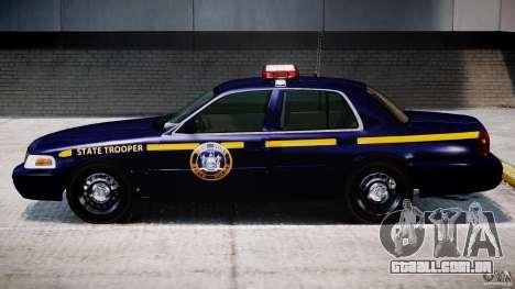 Ford Crown Victoria New York State Patrol [ELS] para GTA 4 traseira esquerda vista