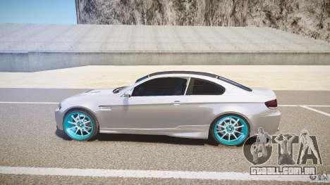BMW E92 para GTA 4 esquerda vista