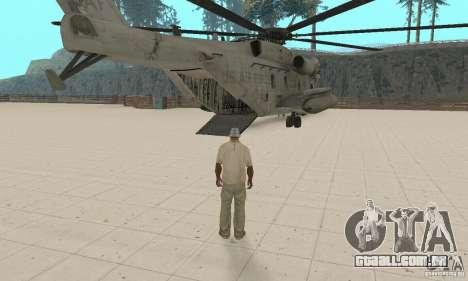 Sikorsky MH-53 para GTA San Andreas vista interior
