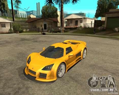 Gumpert Appolo para GTA San Andreas