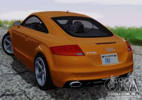 Audi TT-RS Coupe para GTA San Andreas vista superior